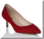 LK Bennett Red  Suede Courts