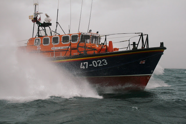 12 June 2011 - ALB during exercise in rough weather (southerly force 7, gusting 8, heavy rain). (Photo credit: Rob Inett)