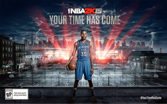 Kevin Durant became NBA2k15 cover