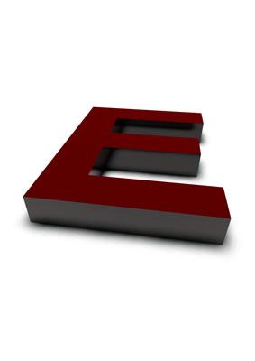 lettre 3D rouge de Chine - E - images libres de droit