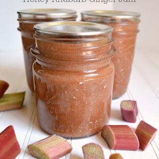 Easy Small Batch Honey Rhubarb Ginger Jam