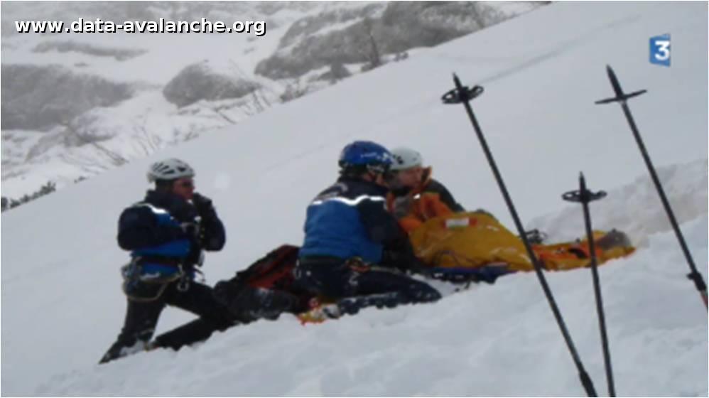 Avalanche Vercors, secteur Rochers des Deux soeurs, Pas de l'Oseille - Couloir des sultanes - Photo 1 - © vinz_z - Skitour