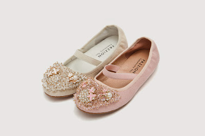 Pink and Beige Glistering Baby  Flat
