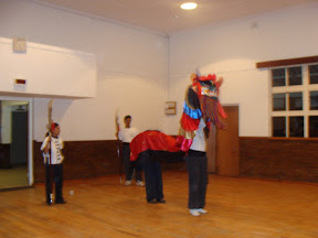 Practicing the Seven Star Lion Dance