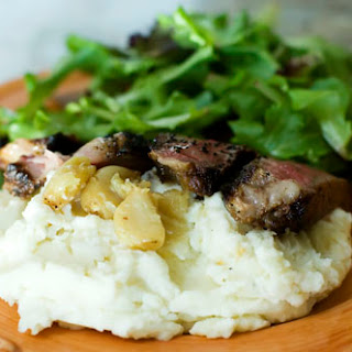 Garlic Mashed Potatoes With Steak Recipes.