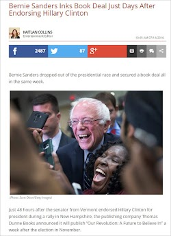 20160714_1045 Bernie Sanders Inks Book Deal Just Days After Endorsing Hillary Clinton.jpg