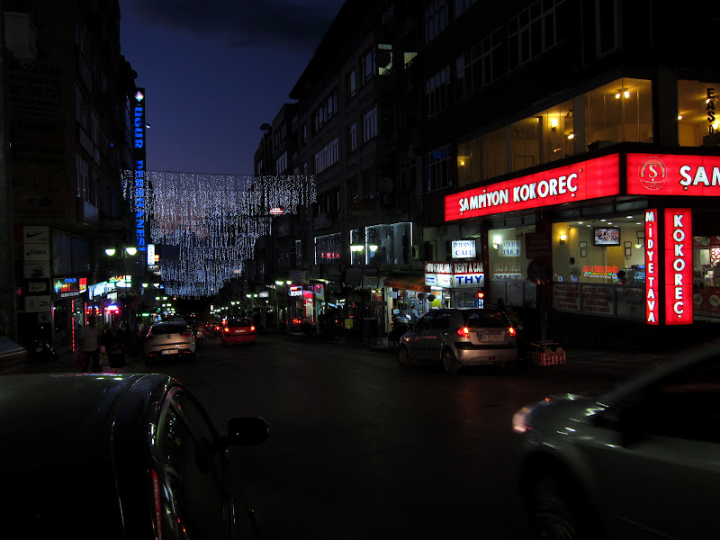 A street in the main shopping district near Ataturk Meydan, Trabzon