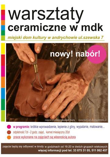 Nowy nabór na warsztaty ceramiczne w MDK Andrychów!