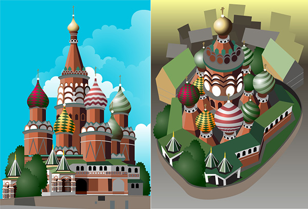 kremlin vector illustration for animation