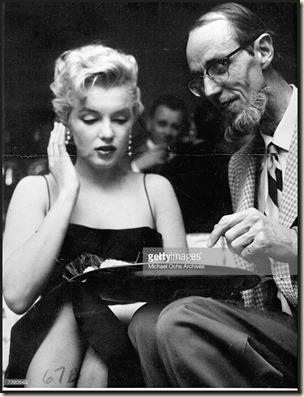 Marilyn Monroe & Earl Leaf 1956 party
