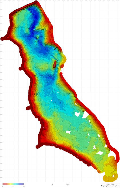 Карта глибин озера Прилбичі