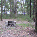 A few fire pits at Little Mountain campground