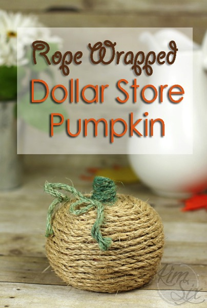 Easy Rope Wrapped Dollar Store Pumpkin