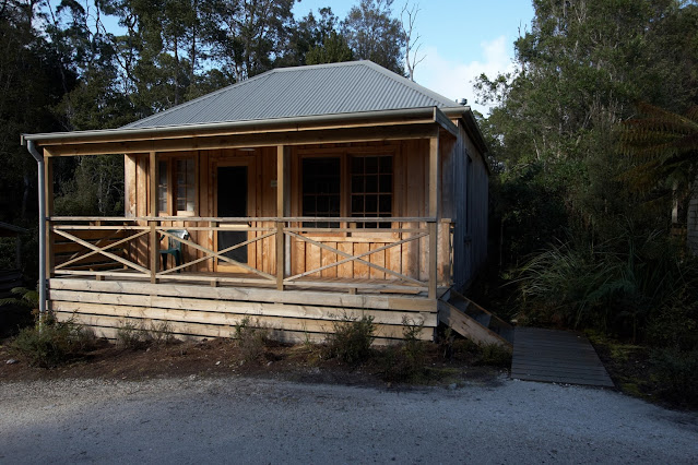 Our cottage in Corinna, nestled in the Tarkine rainforest
