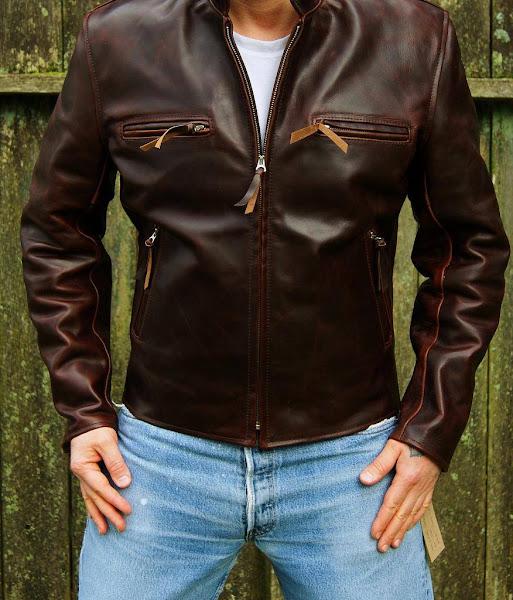 Aero Leather Jacket Cafe Racer