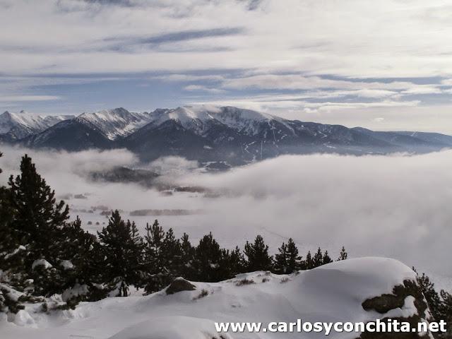 La niebla nos tapa la zona de La Quillane