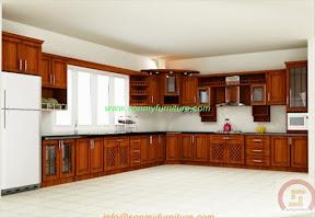 Tủ bếp gỗ tự nhiên BESM0108