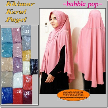 kerut payet bubble pop