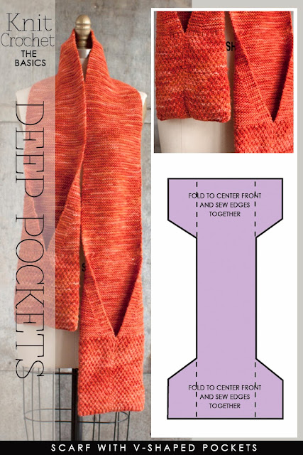 Free Crochet Pattern Pocket Scarf : DiaryofaCreativeFanatic