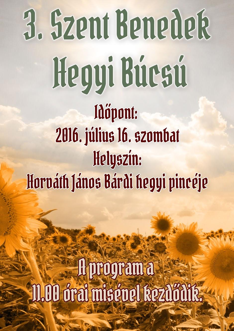 Szent Benedek Hegyi Búcsú plakát