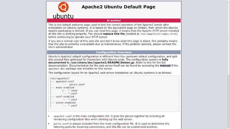 Tanda jika Apache Server telah Berjalan