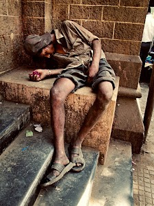 A homeless sleeper