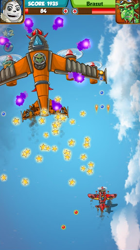 PANDA FIGHTER PLANE: AIR COMBAT 2020 GAMES android2mod screenshots 2