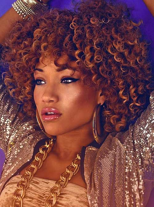 Awesome Light Brown Afro Hairstyle For Short Hair Fashion Qe Short Hairstyles Gunalazisus