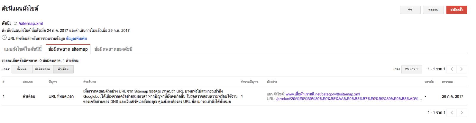 re sitemap หาย google ฟอร มผล ตภ ณฑ