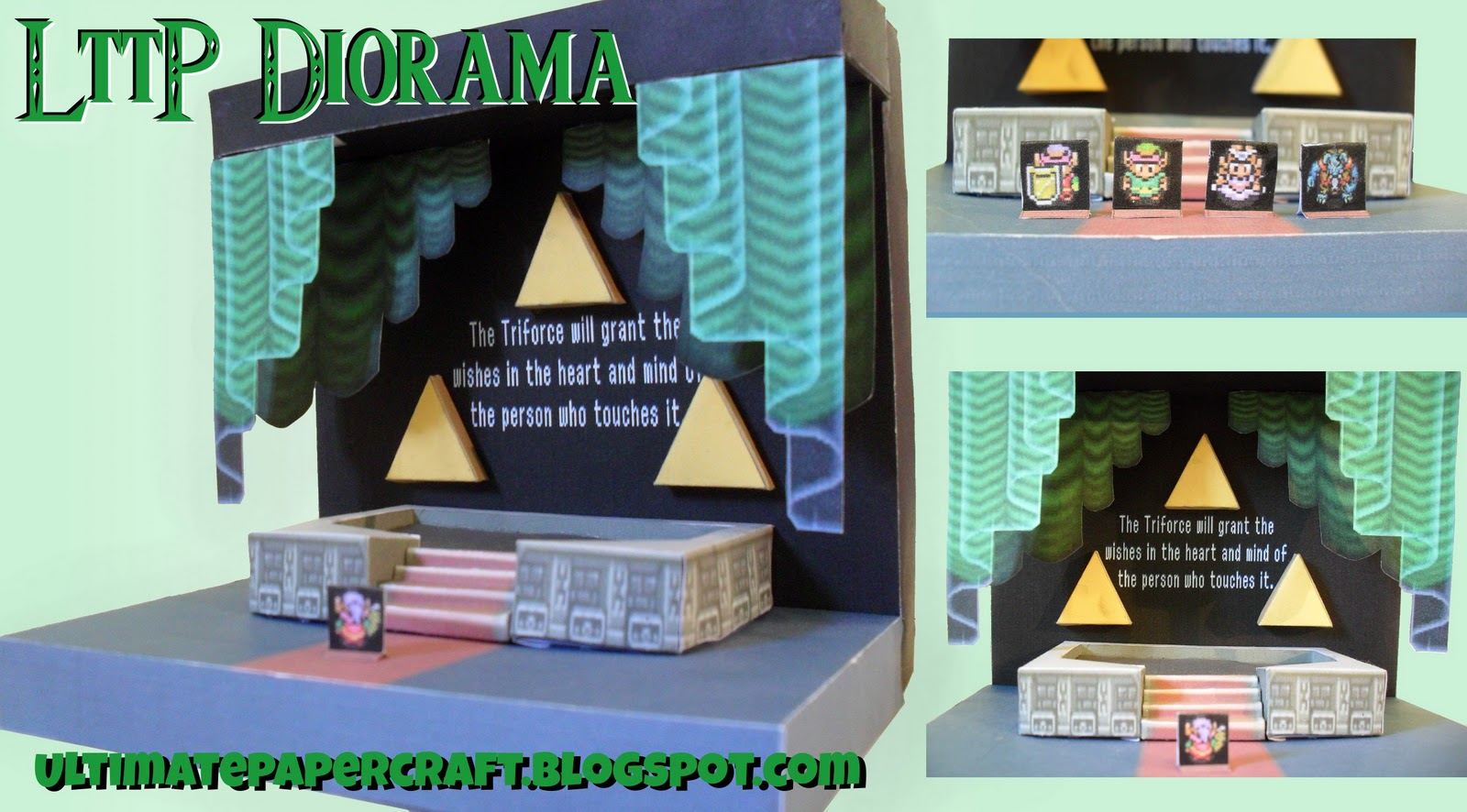 Heres A Nice Easy Papercraft You Can Build Very Quickly This Epic Scene Happens At The End Of Legend Zelda Link To Past