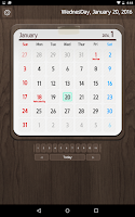 Screenshot of Calendar Widget 2016 Ultimate