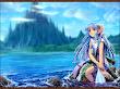 Anime Elf On Seaside