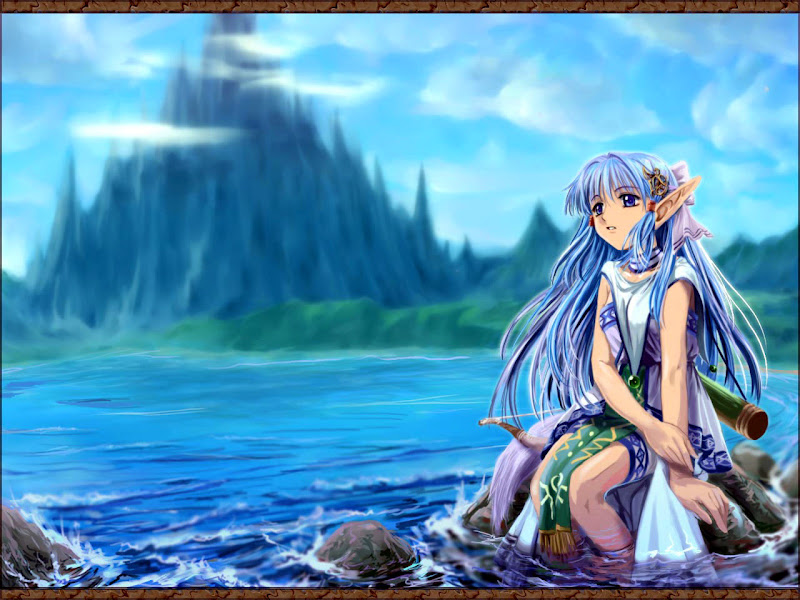 Anime Elf On Seaside, Elven Girls