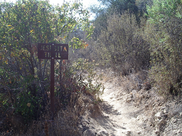 turnoff for Jesusita trail