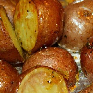 Oven Roasted Garlic Potatoes.