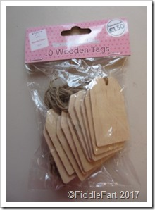 10 Wooden Tags - The Works