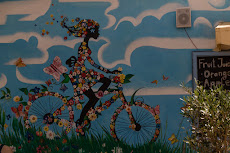 Cycling with flowers!