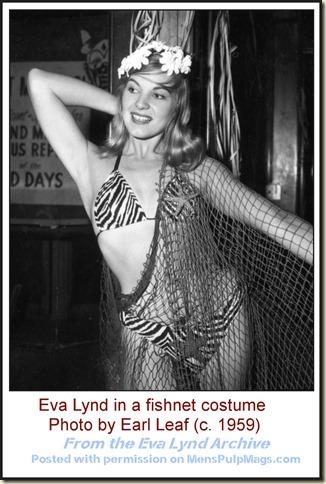 Eva Lynd fishnet photo by Earl Leaf, 1959
