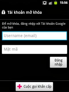 Đăng nhập vào Android bằng tài khoản Google
