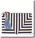 Clare V Striped Cotton clutch