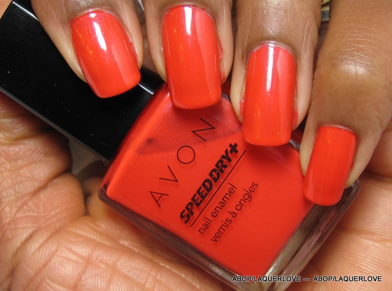 ANOTHER Bottle of Polish?!: Avon Speed Dry + - Mambo Melon