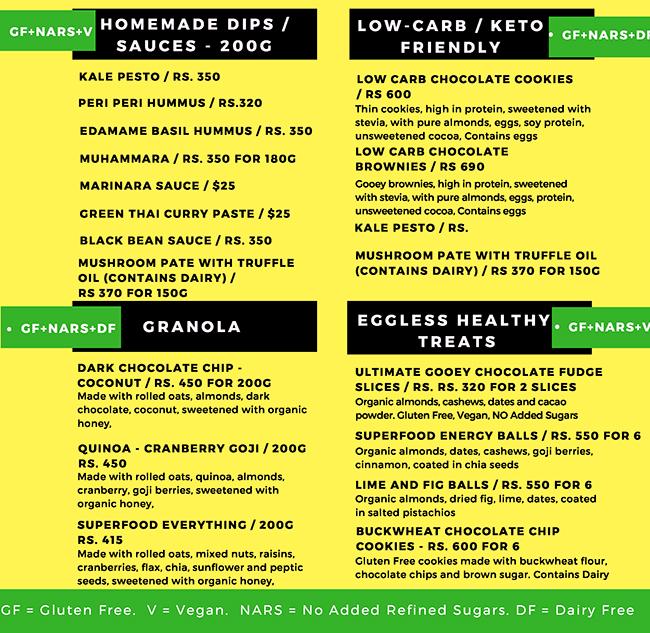 Diet Tamasha  menu 1