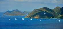 BVI Spring Regatta sailing around the islands