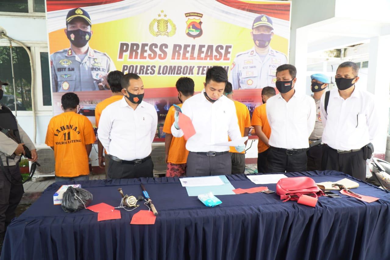 Dua Pekan, Satreskrim Polres Lombok Tengah Berhasil Ungkap 9 Kasus Tindak Kejahatan