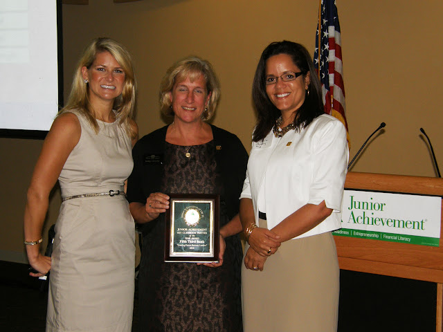 Fifth Third Bank, Key Classroom Business Partner of the 2011-2012 School Year- 9 JA Classes Taught