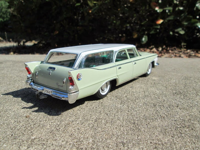 60 Plymouth wagon with dragster trailer - Under Glass - Model Cars