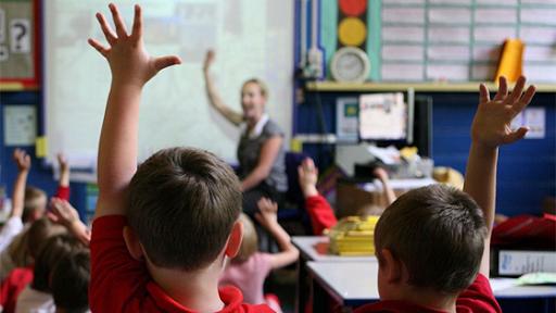 Pupils in Scottish Primary School