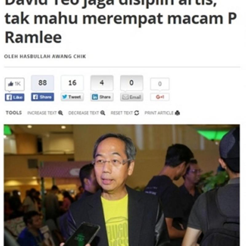 Jangan bandingkan dengan P.Ramlee.