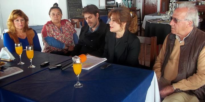 Virginia Lastagaray y Mariano Gonzales representantes del Buró