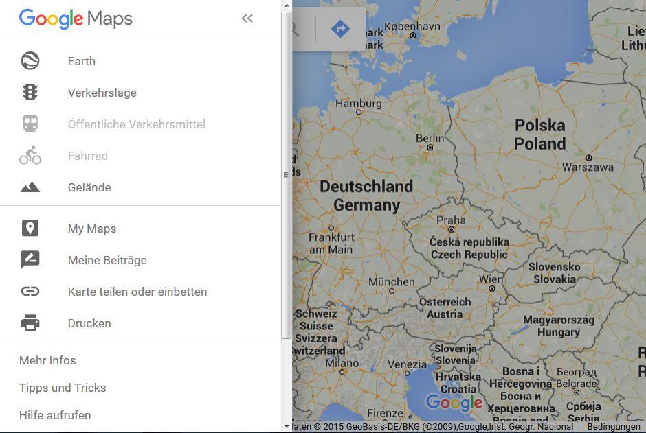 Kann Karte in MyMaps nicht löschen - Ajuda — Google Maps